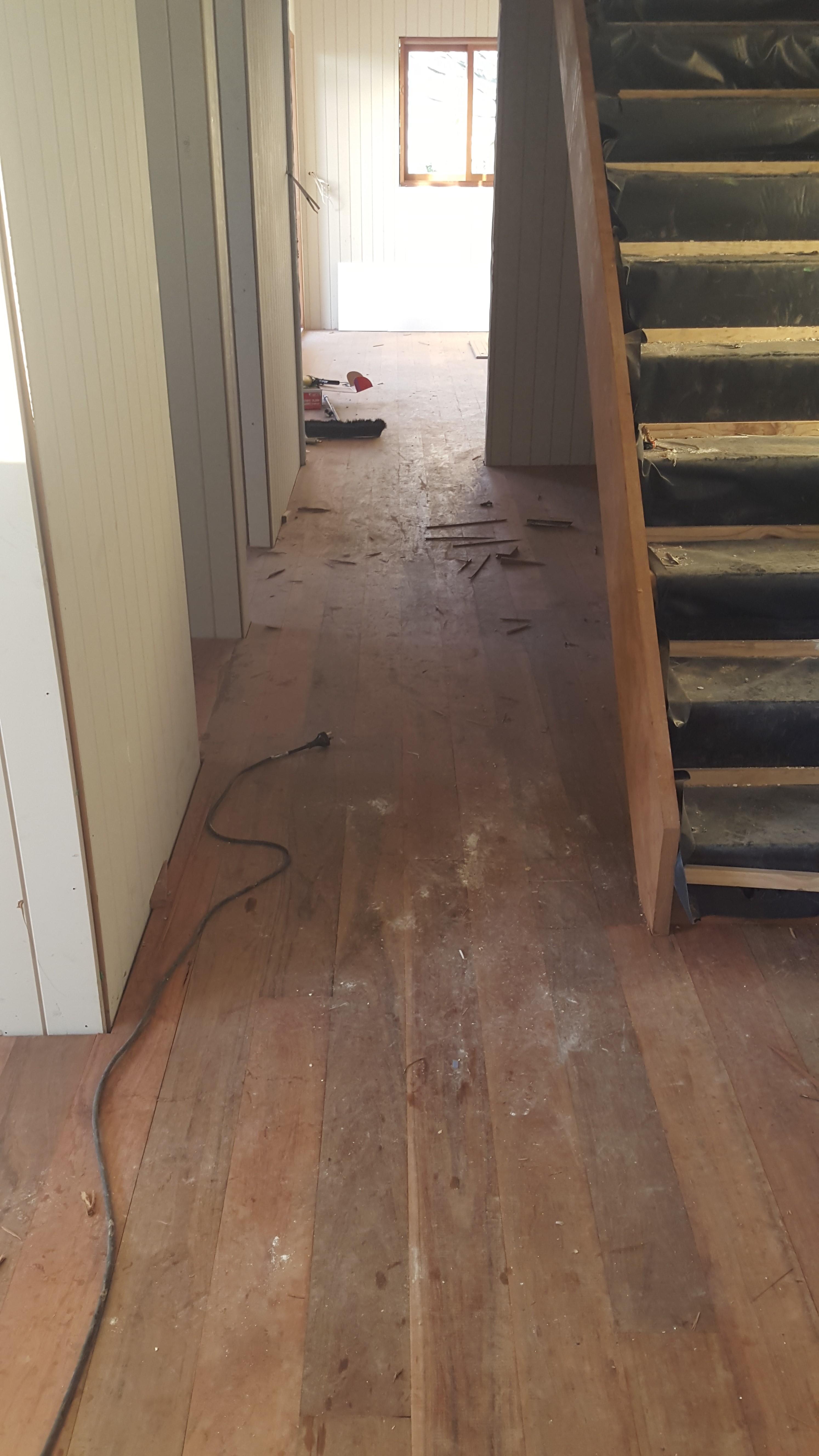 Floors before sanding