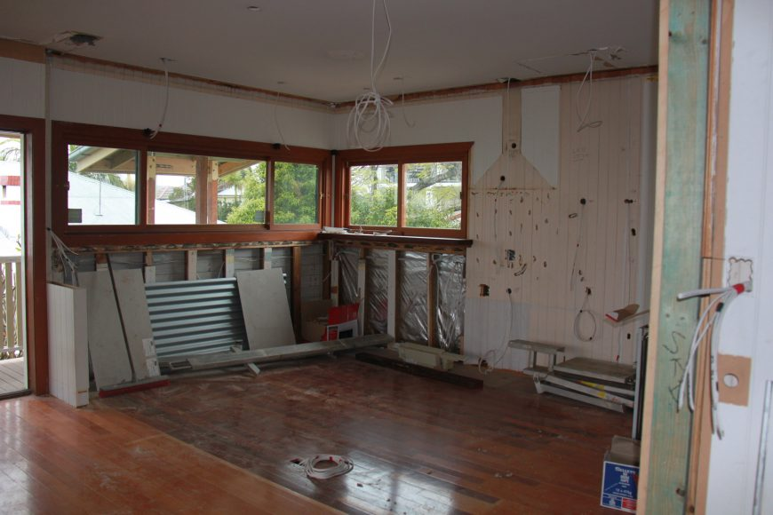 Before the kitchen instal