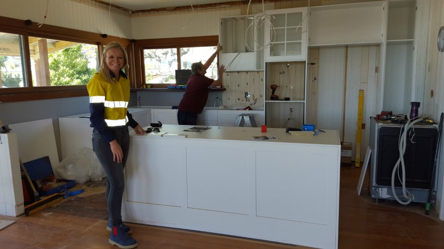 Rachael Turner from Front Porch properties and cabinet installer Albi